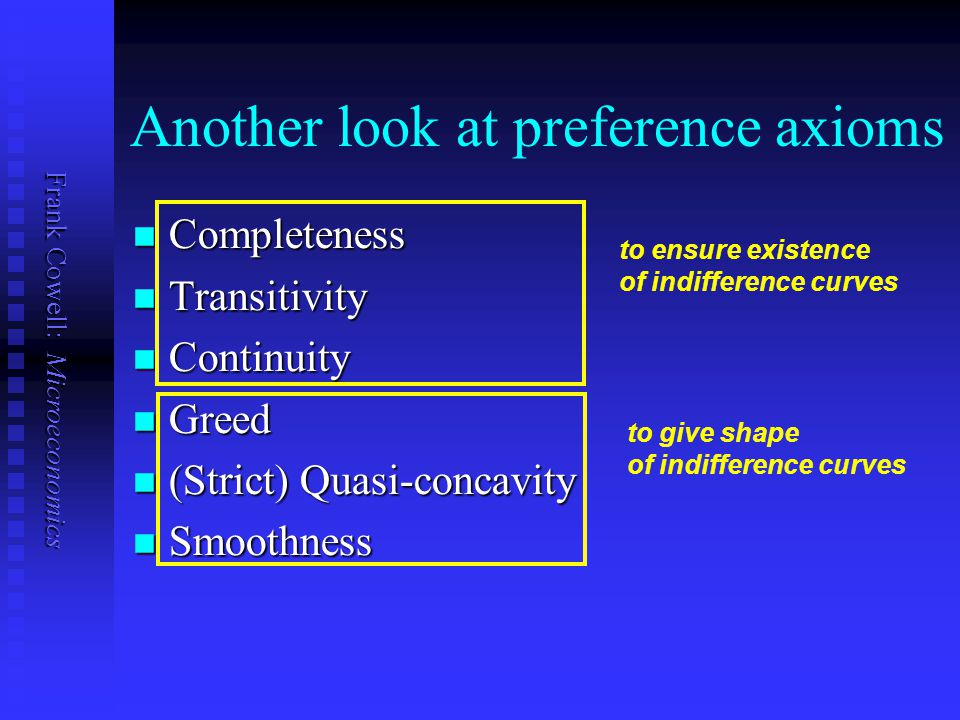 Another look at preference axioms