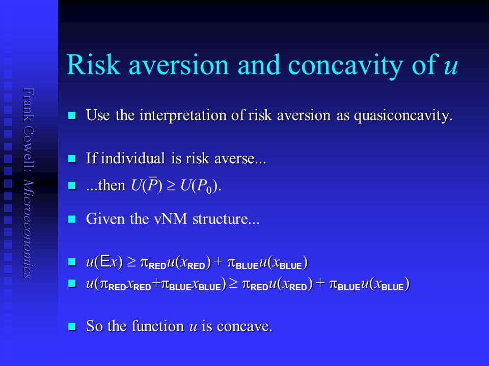 Risk aversion and concavity of u
