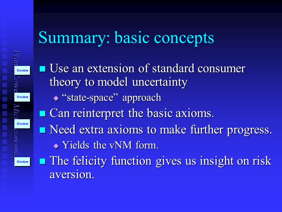 Summary: basic concepts