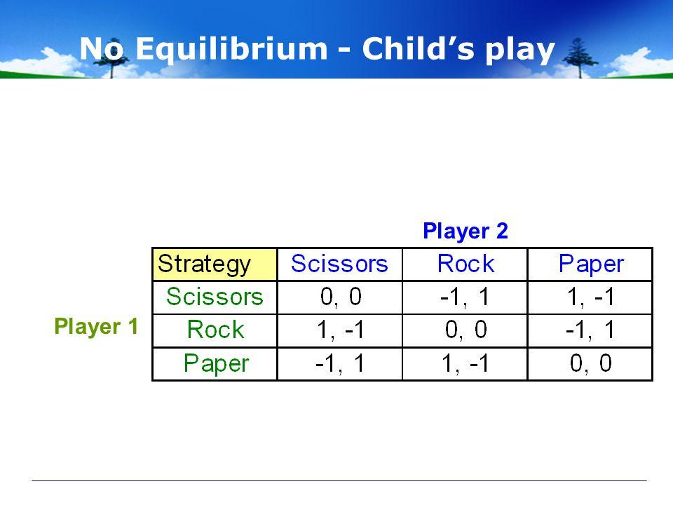 No Equilibrium - Child's play