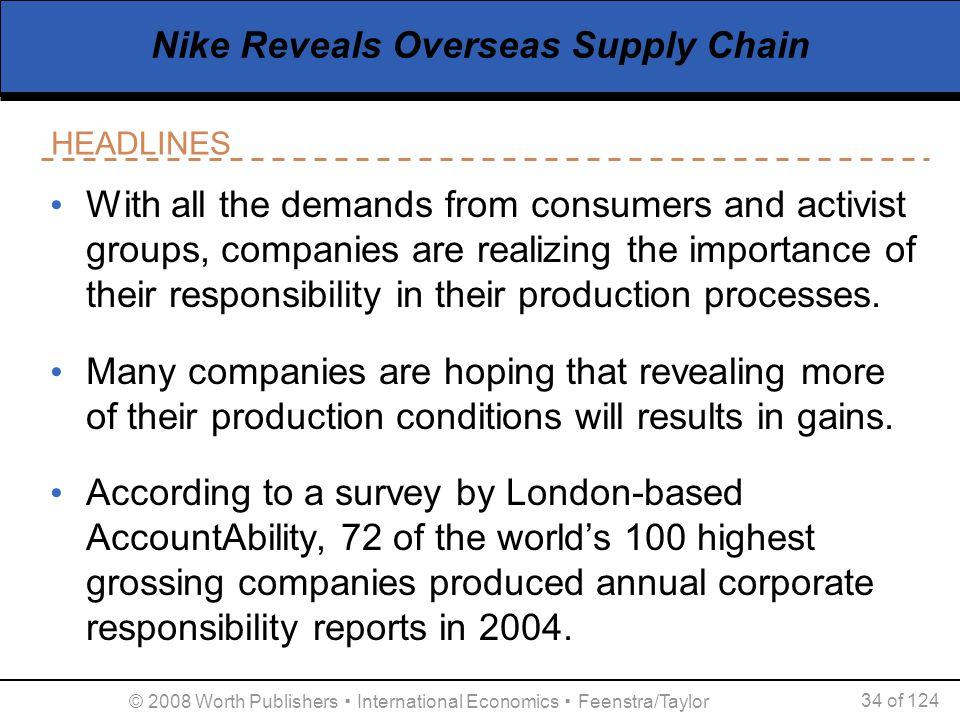 Nike Reveals Overseas Supply Chain