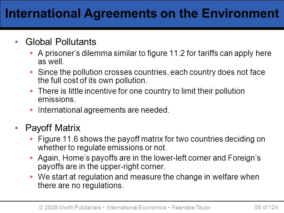 International Agreements on the Environment