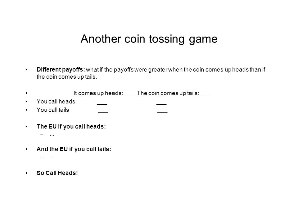Another coin tossing game