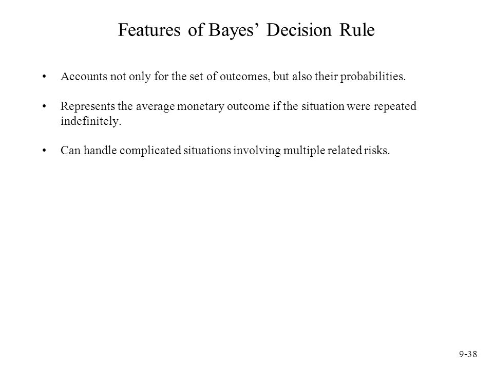 Features of Bayes' Decision Rule