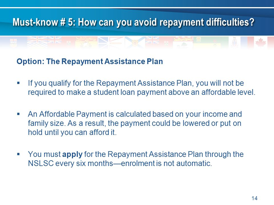 Must-know # 5: How can you avoid repayment difficulties