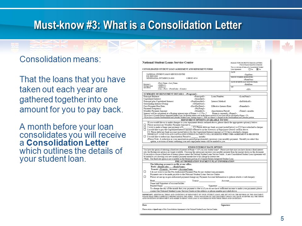 Must-know #3: What is a Consolidation Letter