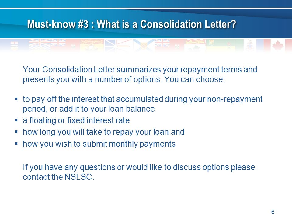 Must-know #3 : What is a Consolidation Letter