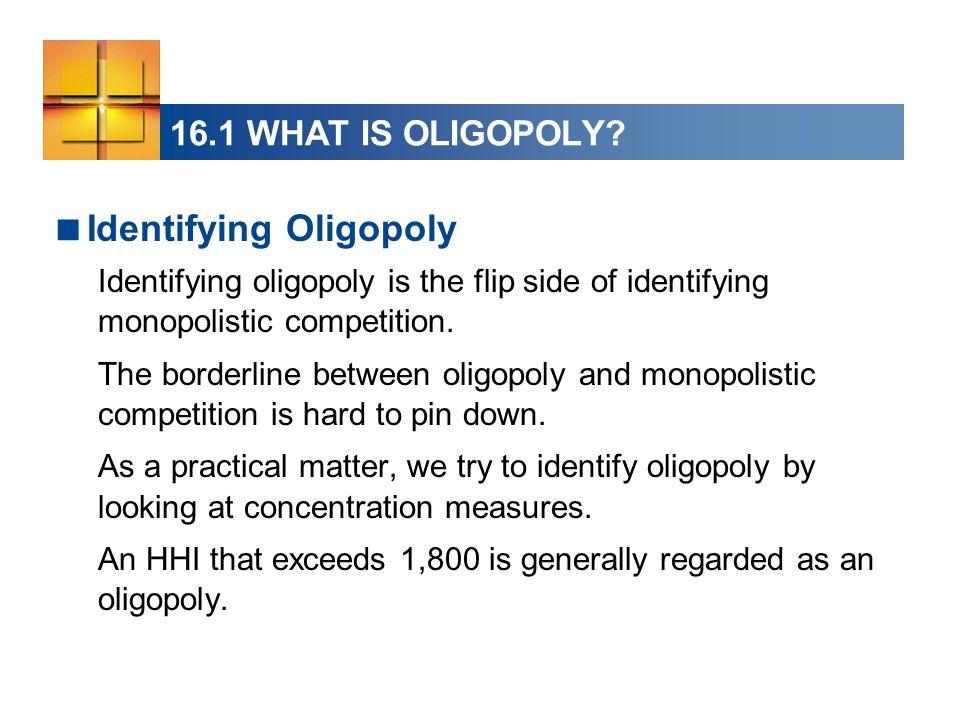 Identifying Oligopoly