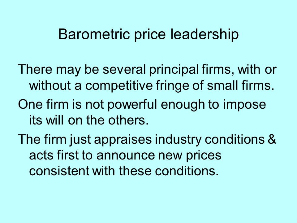 Barometric price leadership