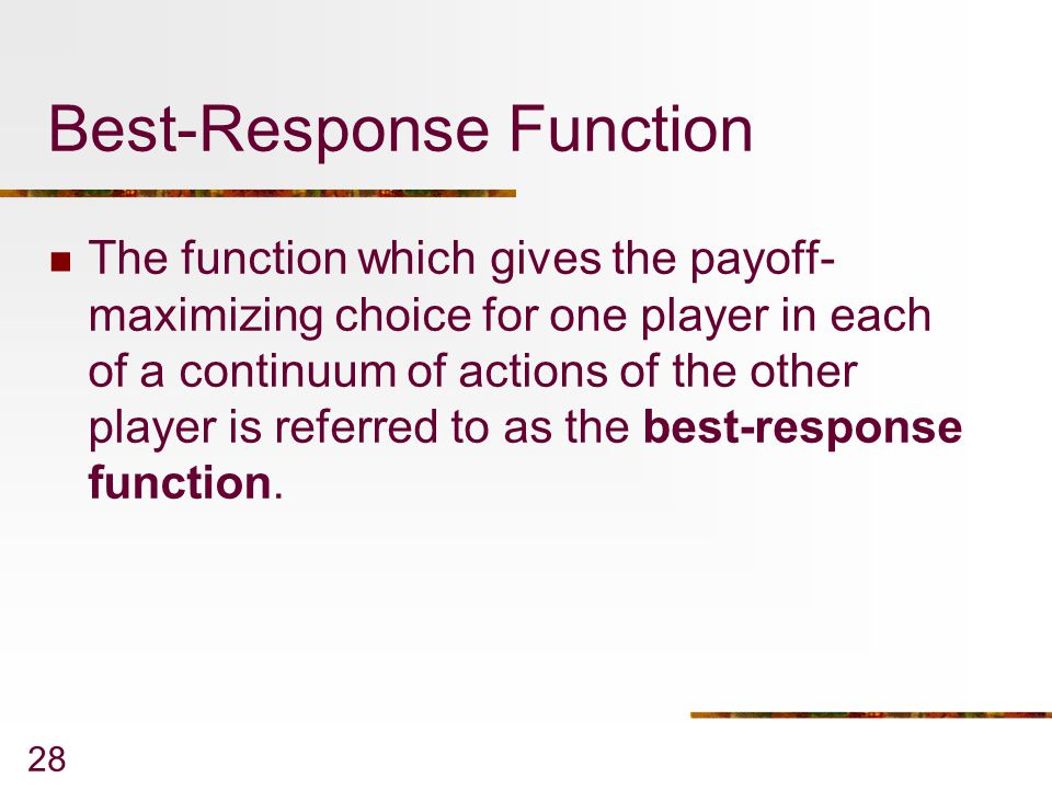 Best-Response Function