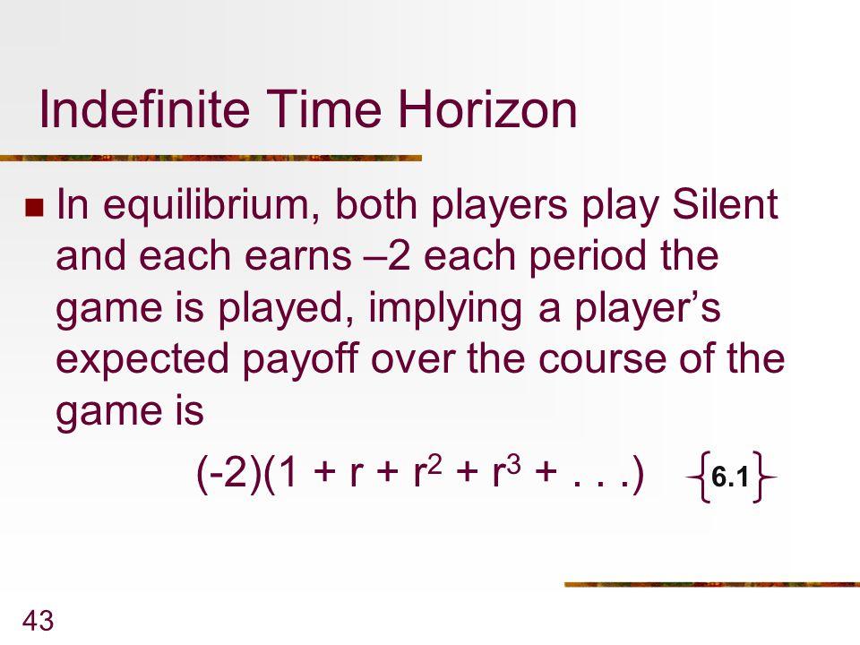 Indefinite Time Horizon