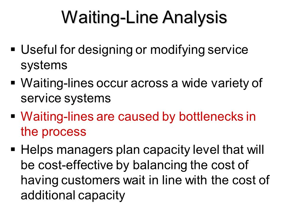 Waiting-Line Analysis