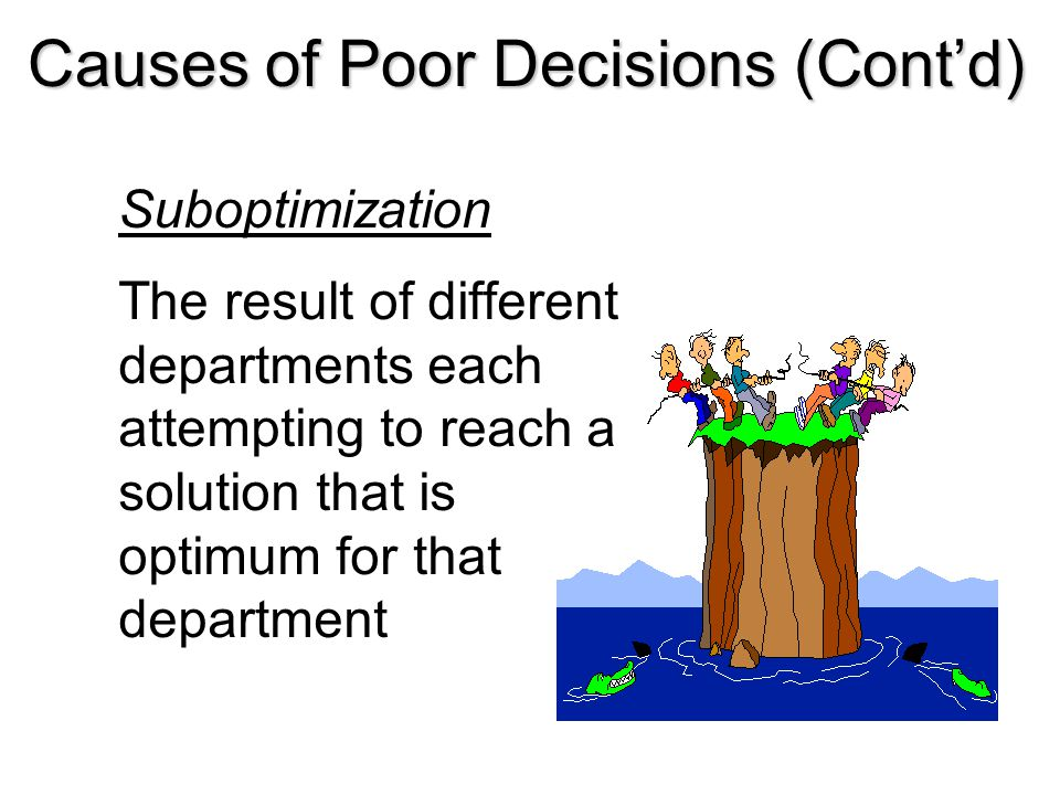 Causes of Poor Decisions (Cont'd)