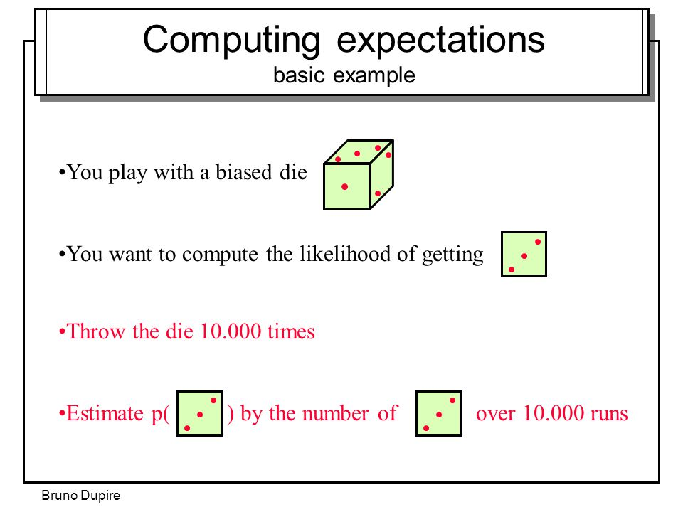 Computing expectations basic example