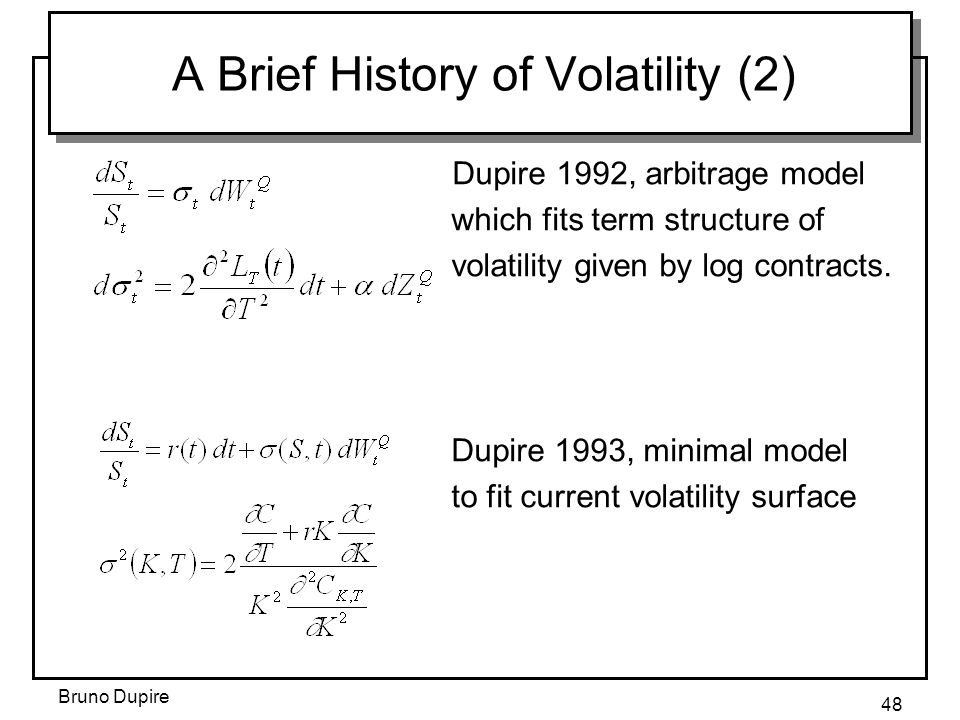 A Brief History of Volatility (2)