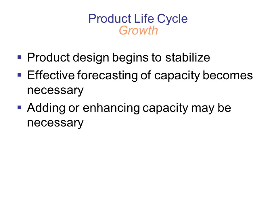 Product Life Cycle Growth