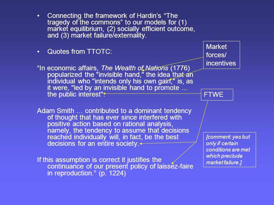 Market forces/ incentives