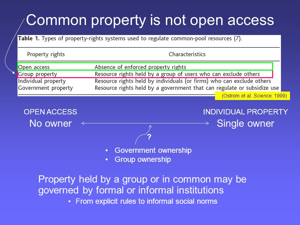 Common property is not open access