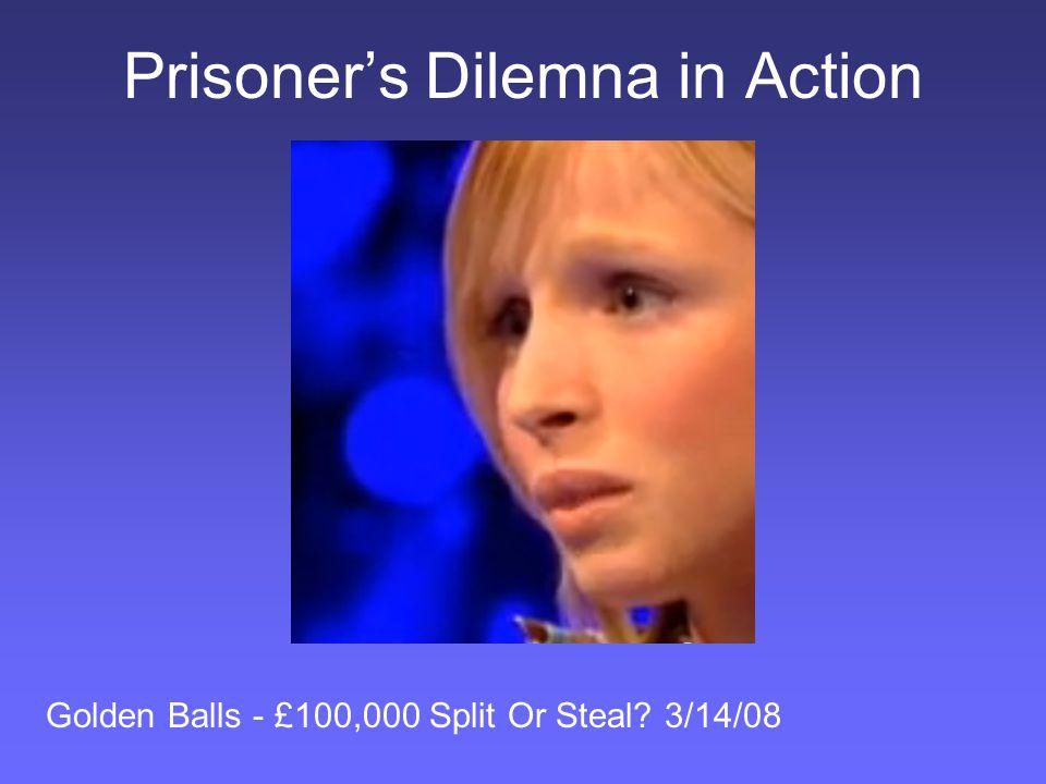 Prisoner's Dilemna in Action