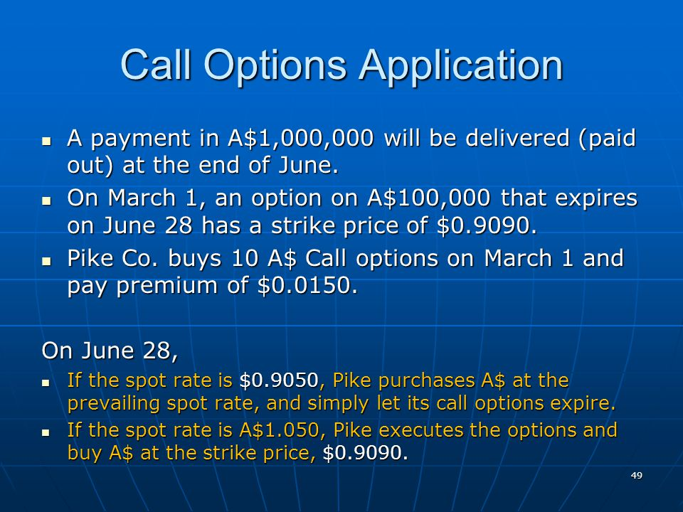 Call Options Application