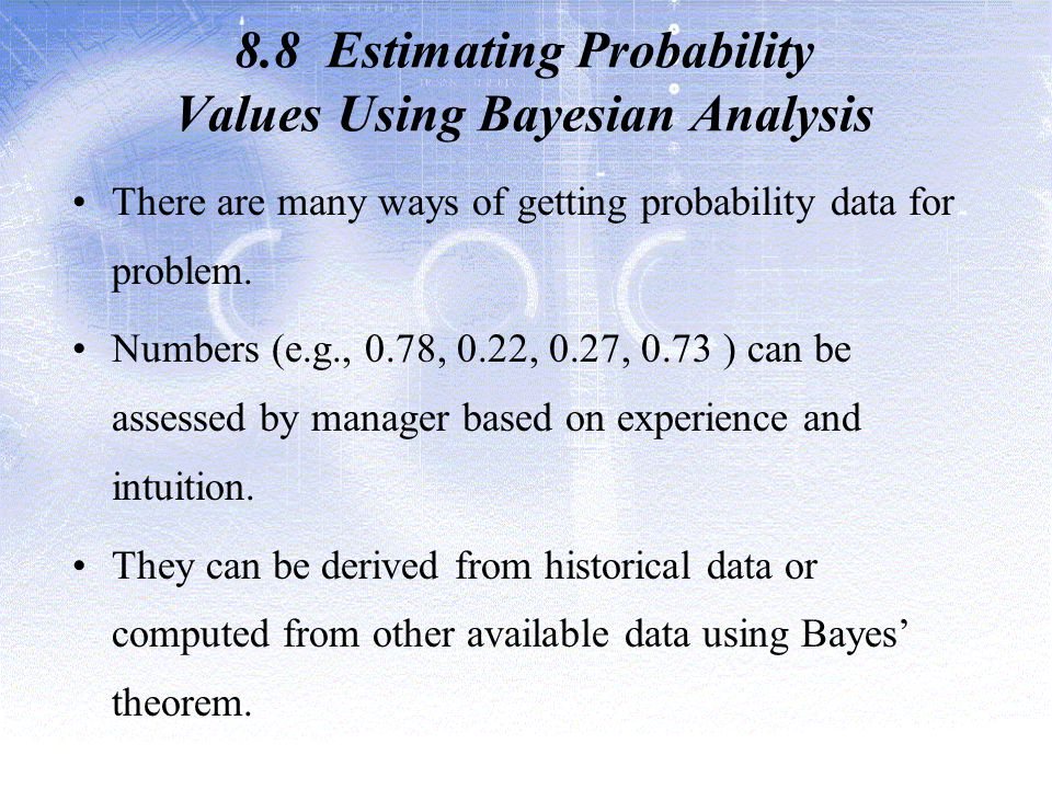 8.8 Estimating Probability Values Using Bayesian Analysis