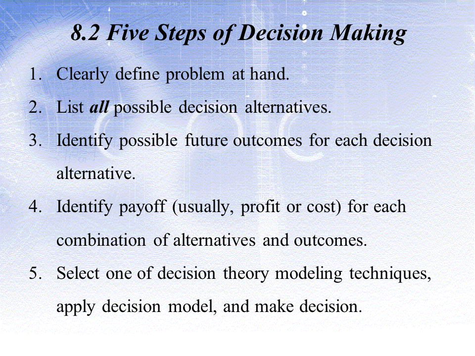 8.2 Five Steps of Decision Making
