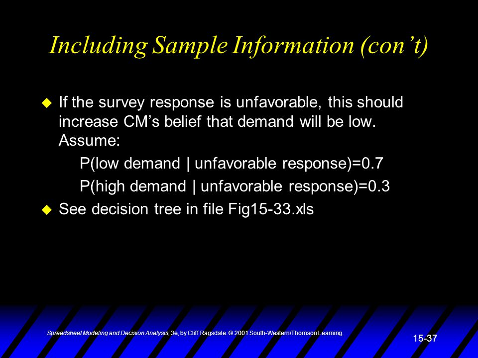 Including Sample Information (con't)