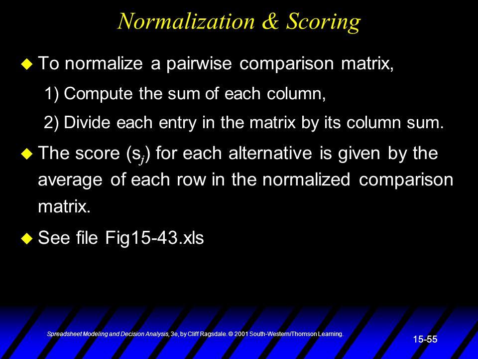 Normalization & Scoring