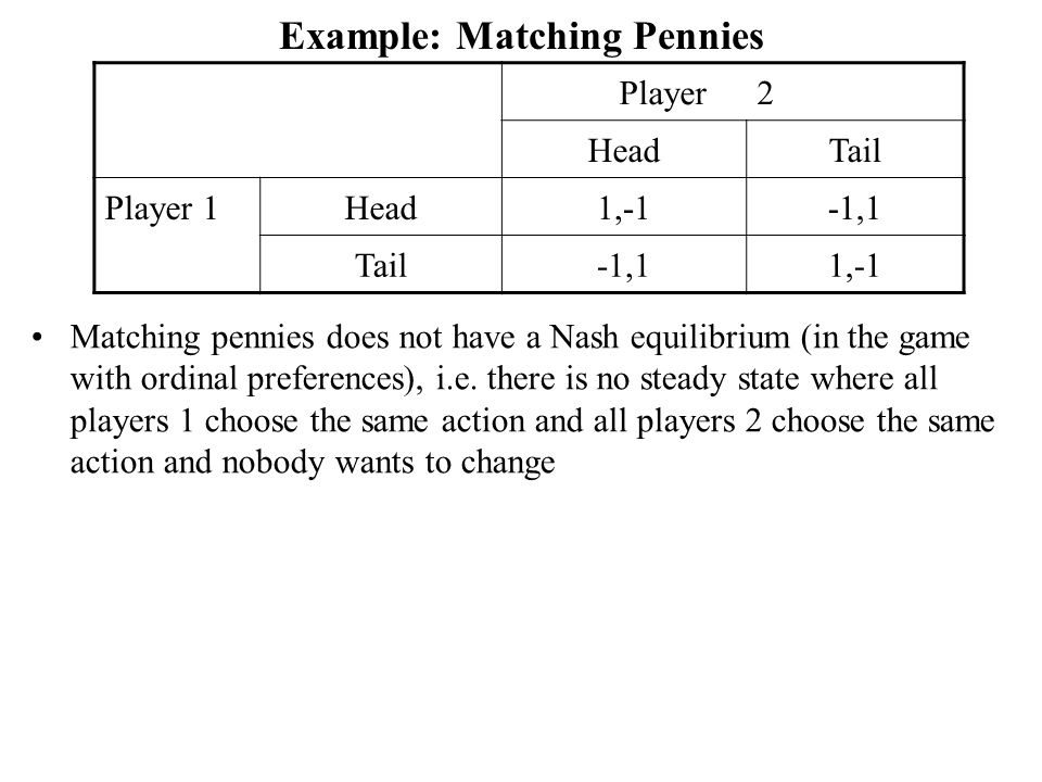 Example: Matching Pennies