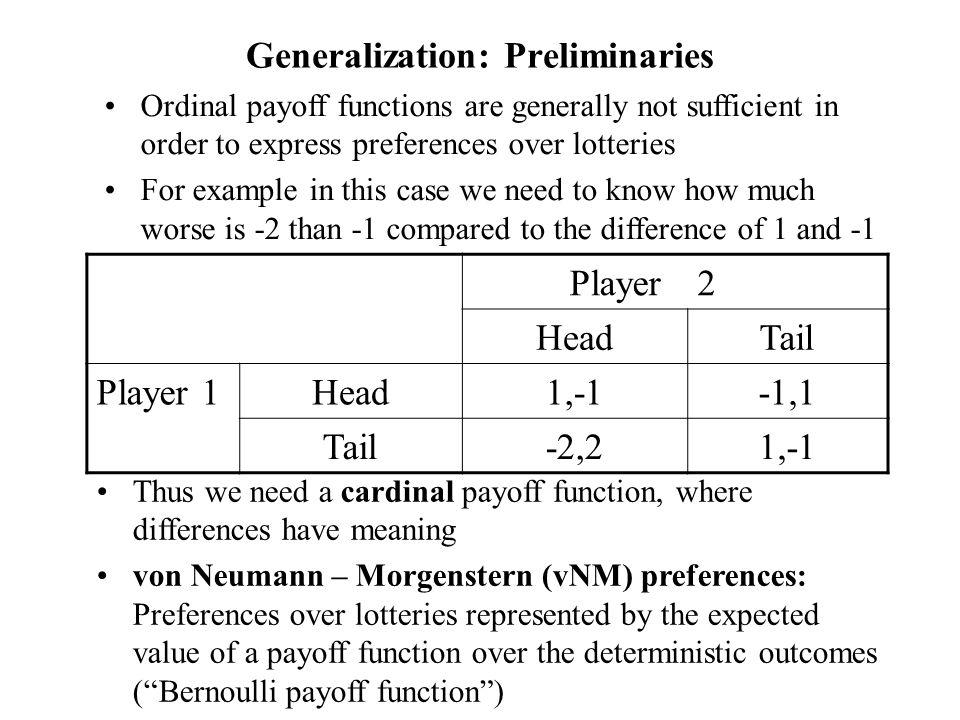 Generalization: Preliminaries