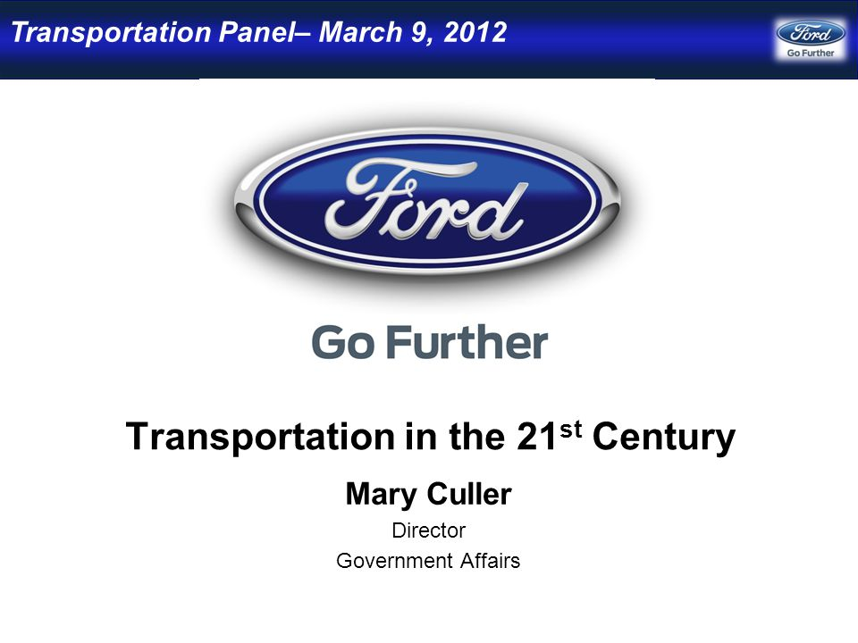 Sustainability at Ford