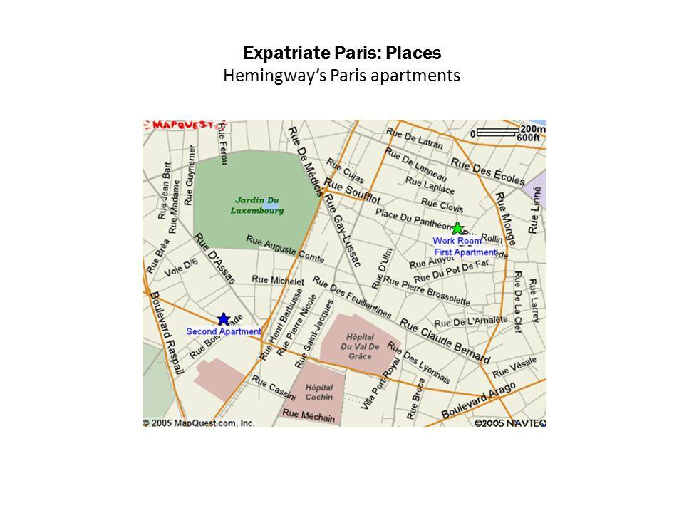 Expatriate Paris: Places Hemingway's Paris apartments