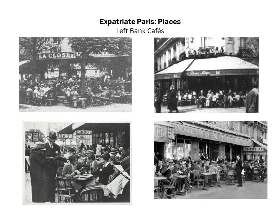 Expatriate Paris: Places Left Bank Cafés