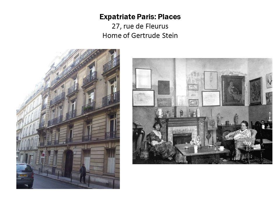 Expatriate Paris: Places 27, rue de Fleurus Home of Gertrude Stein