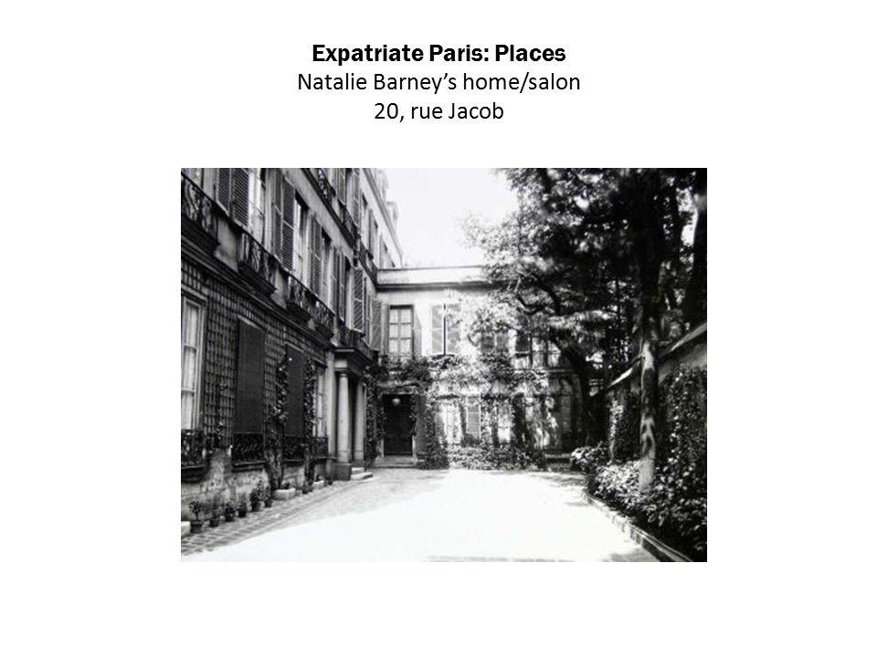 Expatriate Paris: Places Natalie Barney's home/salon 20, rue Jacob