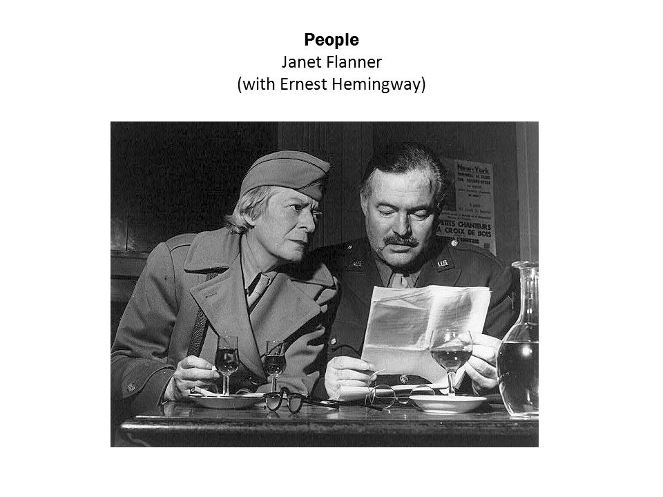 People Janet Flanner (with Ernest Hemingway)