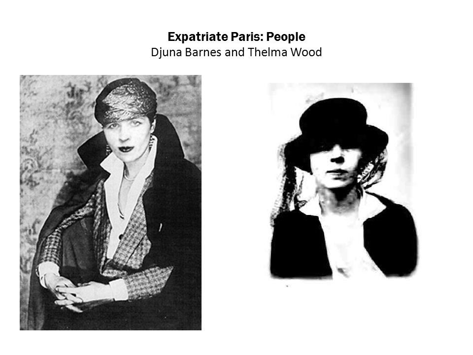 Expatriate Paris: People Djuna Barnes and Thelma Wood