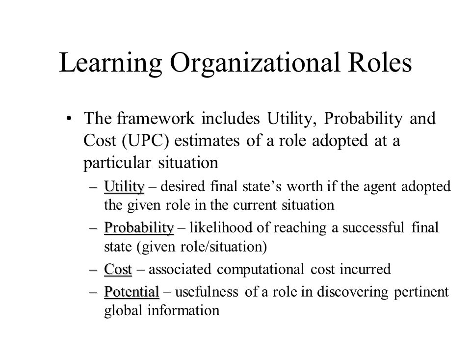 Learning Organizational Roles