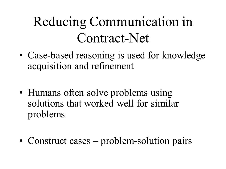 Reducing Communication in Contract-Net