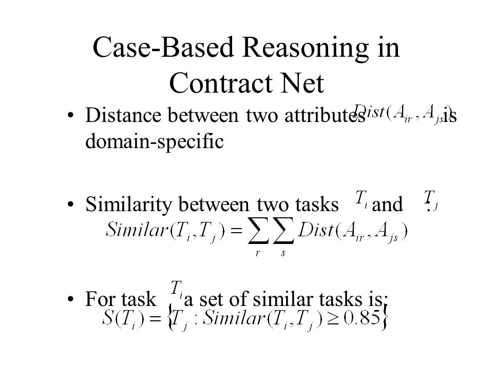 Case-Based Reasoning in Contract Net