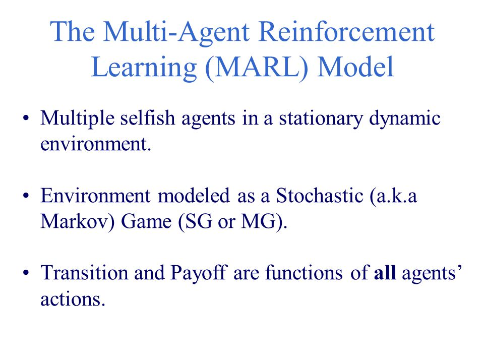 The Multi-Agent Reinforcement Learning (MARL) Model