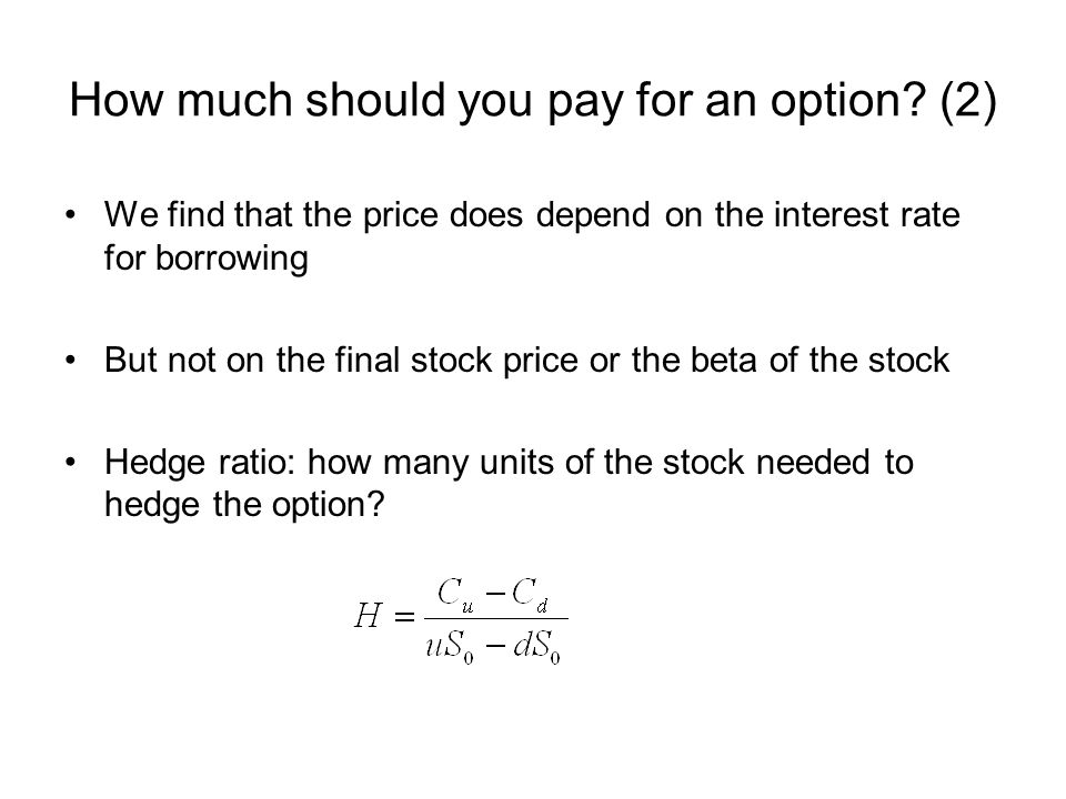 How much should you pay for an option (2)