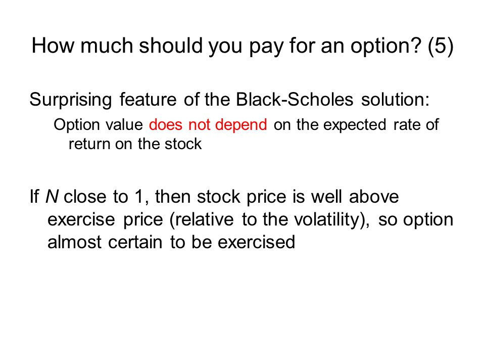 How much should you pay for an option (5)