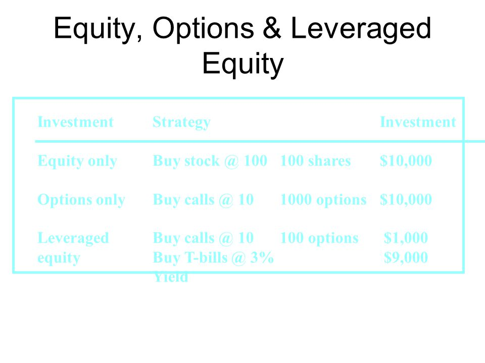 Equity, Options & Leveraged Equity