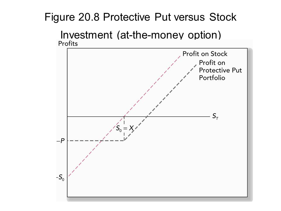Figure 20.8 Protective Put versus Stock Investment (at-the-money option)
