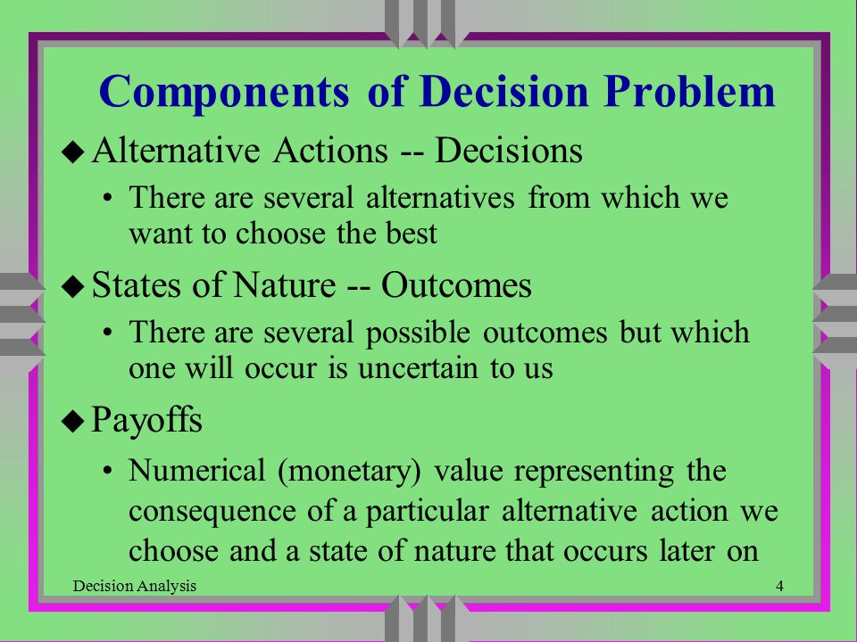 Components of Decision Problem