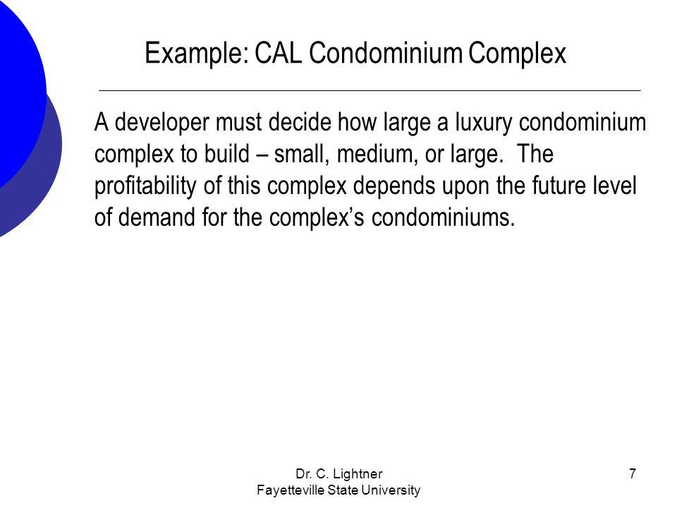 Example: CAL Condominium Complex