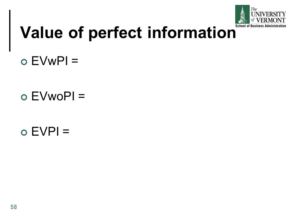 Value of perfect information