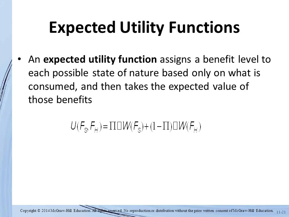 Expected Utility Functions