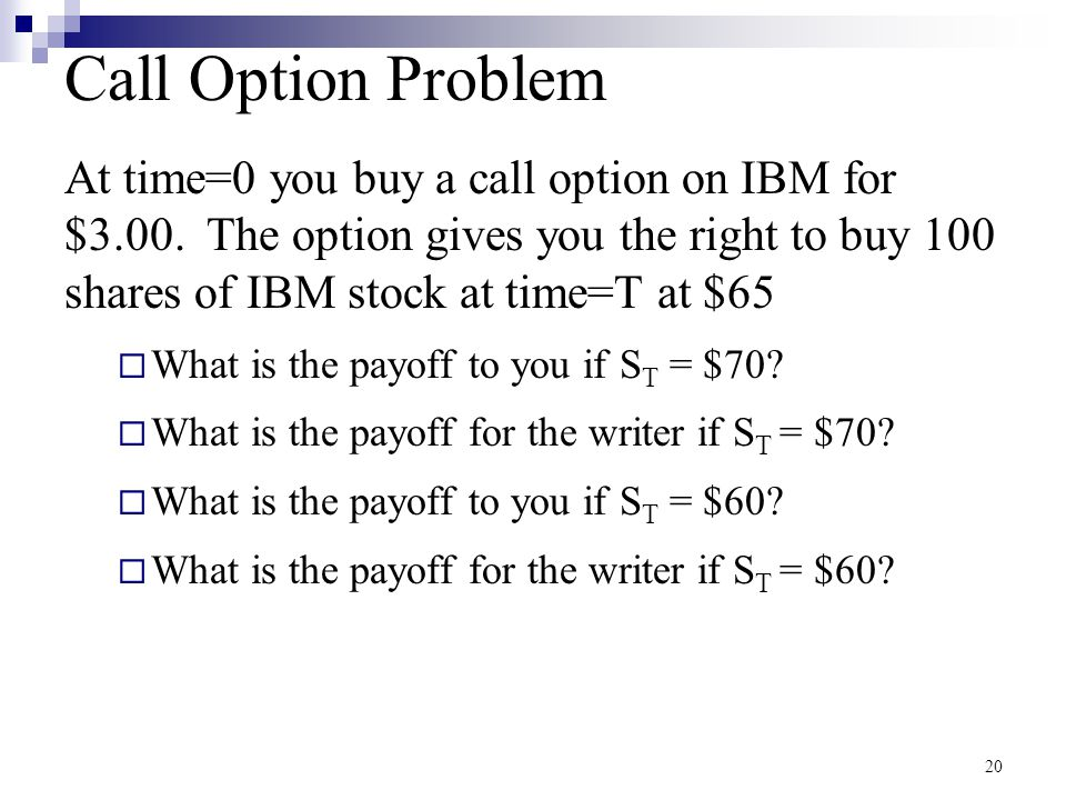 Call Option Problem